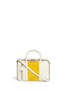 SEE BY CHLOÉ'Harriet' suede panel leather crossbody bag