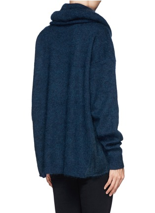 Back View - Click To Enlarge - Acne Studios - 'Demi Mix' drop shoulder sweater with snood