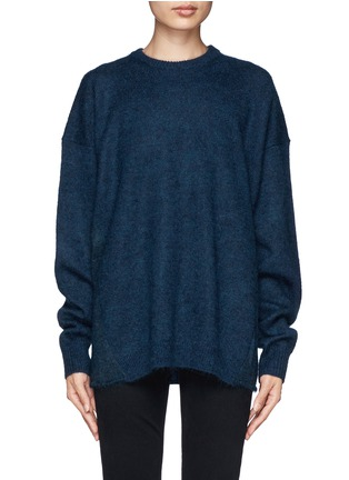 Main View - Click To Enlarge - Acne Studios - 'Demi Mix' drop shoulder sweater with snood