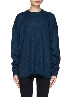 ACNE STUDIOS 'Demi Mix' drop shoulder sweater with snood