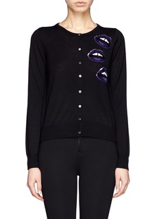 MARKUS LUPFER 'Lara Lip' sequin April   cardigan