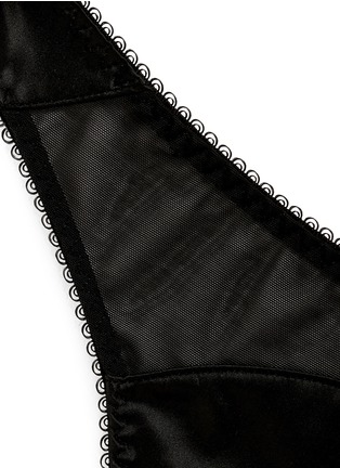 L'Agent-'Penelope' satin tulle thong