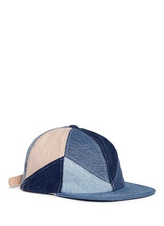 Album'Star' patchwork denim baseball cap