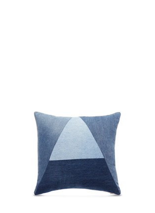 Main View - Click To Enlarge - Album - 'A' logo vintage denim patchwork cushion