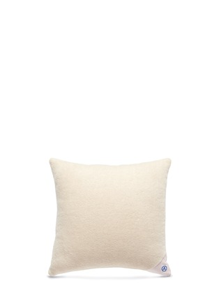 Figure View - Click To Enlarge - Album - 'A' logo vintage denim patchwork cushion