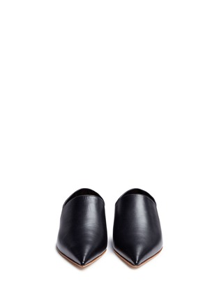 Front View - Click To Enlarge - Marni - 'Sabot' leather babouche slides