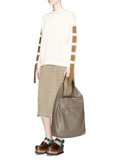 Marni'Abyss' buckle handle leather hobo bag
