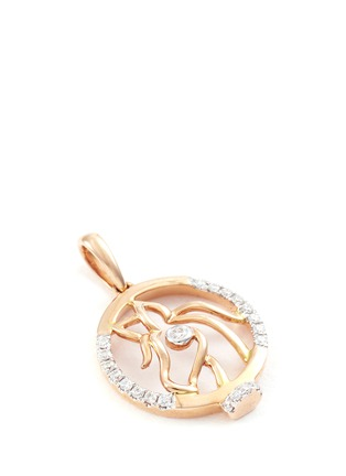 Detail View - Click To Enlarge - LC Collection - Diamond 18k rose gold Chinese zodiac pendant - Horse