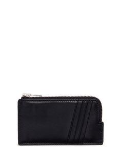 Alexander Wang Croc embossed panel leather zip card holder