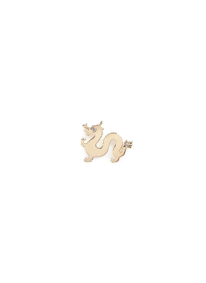 18k yellow gold diamond Chinese New Year charm – Dragon by Loquet London
