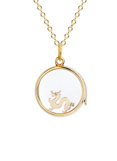 Loquet London 18k yellow gold diamond Chinese New Year charm - Dragon