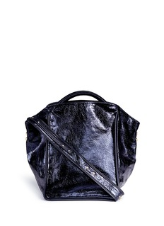 A-Esque 'Basket 02' metallic leather tote