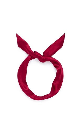 Main View - Click To Enlarge - Yunotme - 'Fork' twist silk bow headband