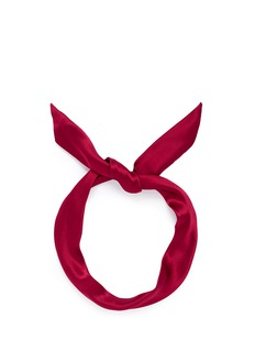 YUNOTME BY GLORIA YU 'Fork' twist silk bow headband