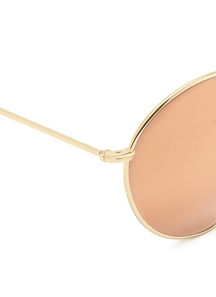 Detail View - Click To Enlarge - Spektre - 'P2' metal round mirror sunglasses