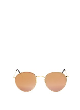 Main View - Click To Enlarge - Spektre - 'P2' metal round mirror sunglasses
