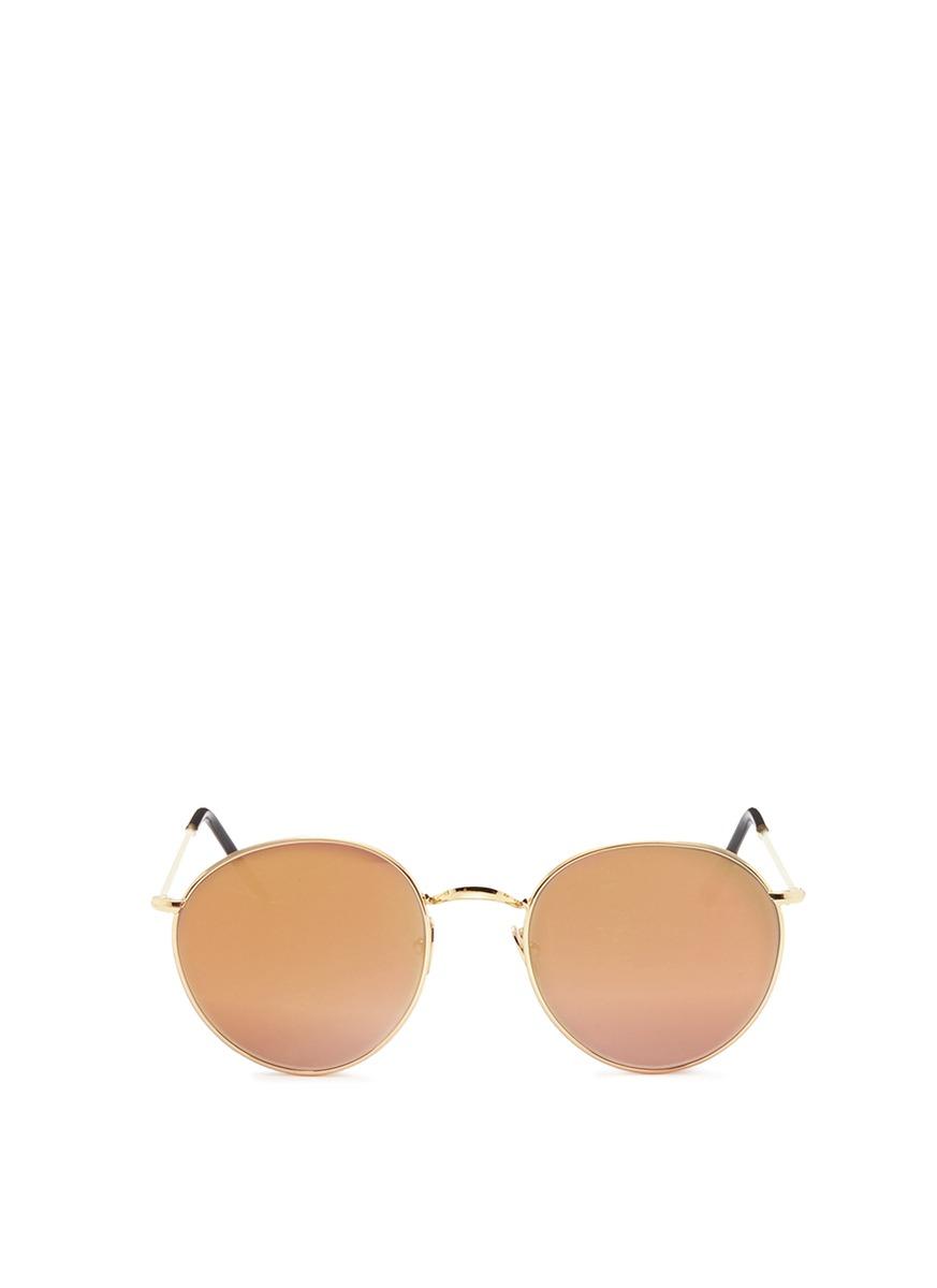 P2 metal round mirror sunglasses by Spektre