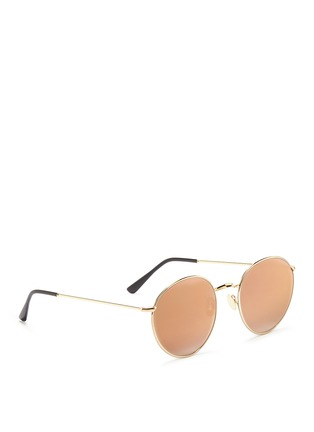 Figure View - Click To Enlarge - Spektre - 'P2' metal round mirror sunglasses