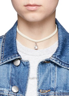 Joomi Lim 'Shadow of Love' Swarovski crystal velvet choker necklace