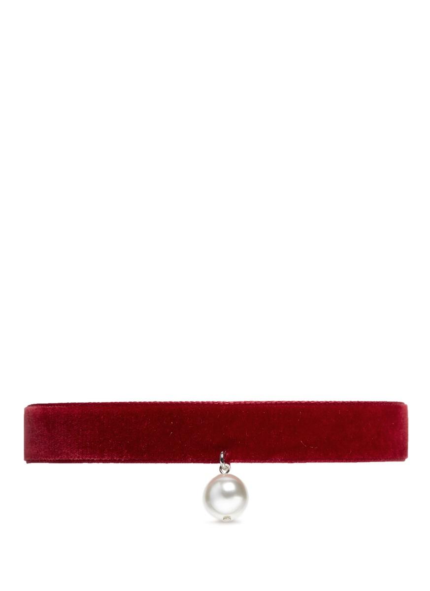 Victorian Romance Swarovski pearl velvet choker necklace by Joomi Lim