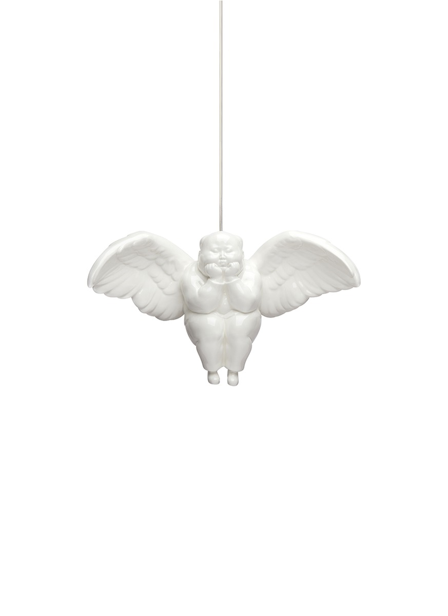 xq female rainbow angel pendant lamp