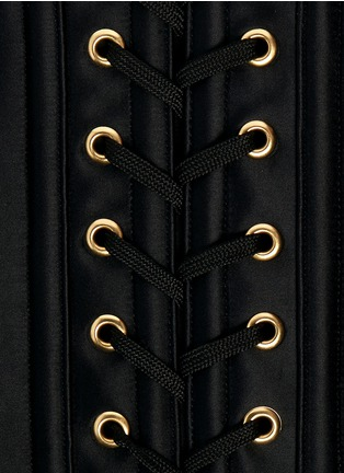 Detail View - Click To Enlarge - L'Agent - 'Penelope' boned satin corset