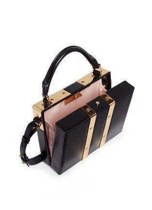 - Sophie Hulme - 'Albany' mini leather suitcase crossbody bag