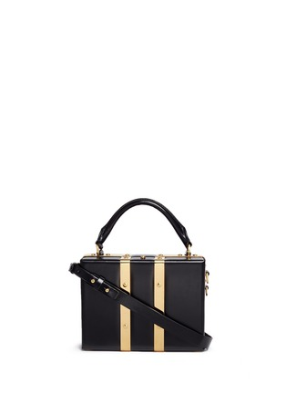 Main View - Click To Enlarge - Sophie Hulme - 'Albany' mini leather suitcase crossbody bag