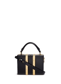 Sophie Hulme 'Albany' mini leather suitcase crossbody bag