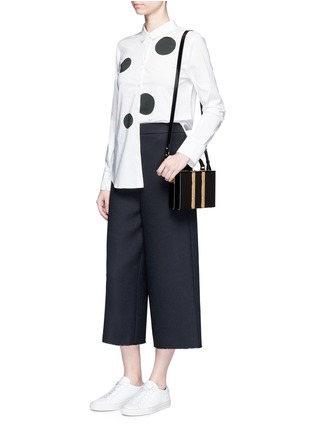 Figure View - Click To Enlarge - Sophie Hulme - 'Albany' mini leather suitcase crossbody bag