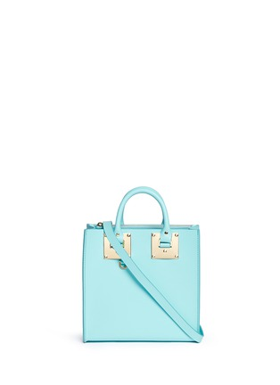 Main View - Click To Enlarge - Sophie Hulme - 'Albion Square' saddle leather tote