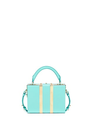 Detail View - Click To Enlarge - Sophie Hulme - 'Albany' mini leather suitcase crossbody bag