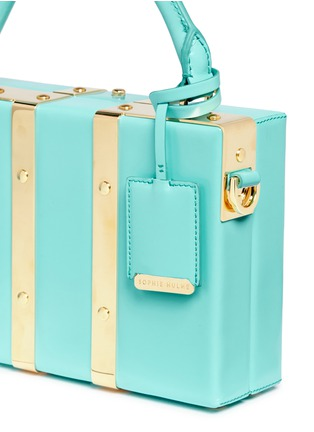 - Sophie Hulme - 'Albany' mini leather suitcase crossbody bag