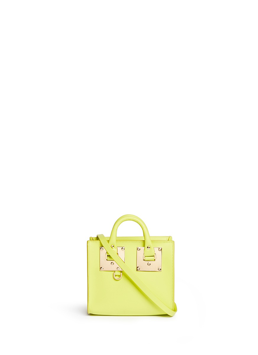 Albion leather box tote by Sophie Hulme