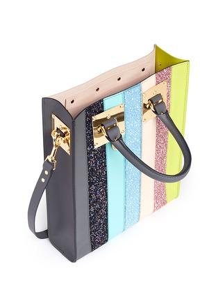 - Sophie Hulme - 'Albion' mini glitter rainbow stripe leather box tote