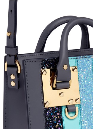 - Sophie Hulme - 'Albion' glitter rainbow stripe leather box tote