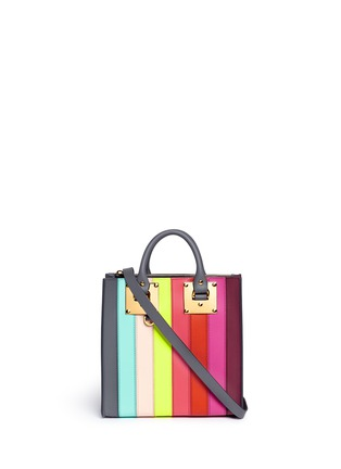 Main View - Click To Enlarge - Sophie Hulme - 'Albion Square' rainbow stripe leather tote