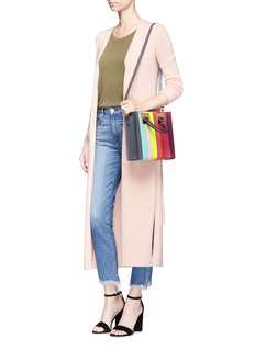 Sophie Hulme'Albion Square' rainbow stripe leather tote