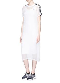 Adidas3-Stripes chiffon overlay tank dress