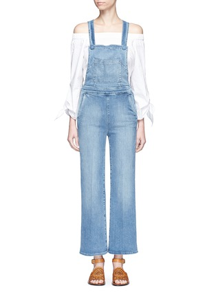 Main View - Click To Enlarge - Frame Denim - 'Le Button Jumper Walsh' denim overalls