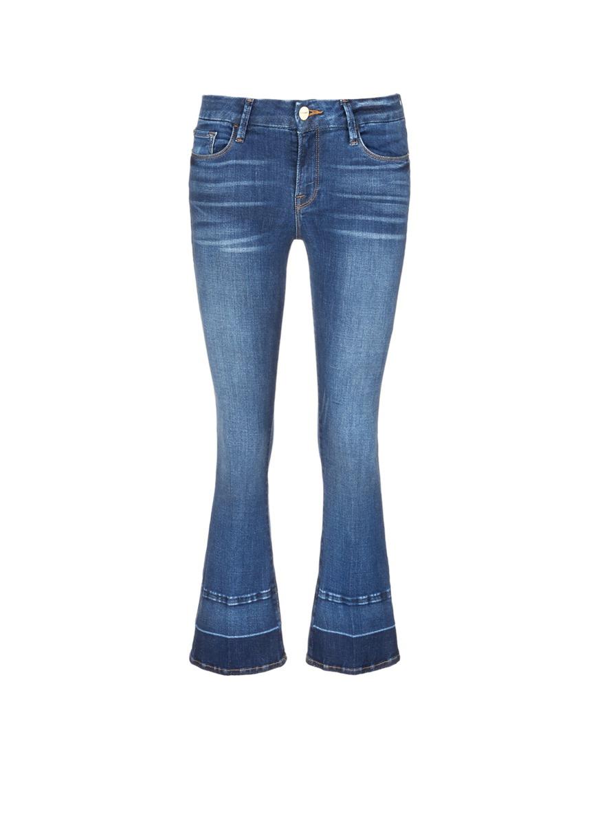 Le Crop Mini Boot letout cuff jeans by Frame Denim