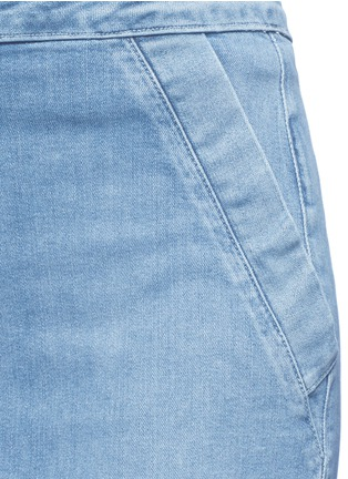 Detail View - Click To Enlarge - Frame Denim - 'Le Pencil' button denim skirt