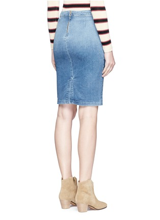 Back View - Click To Enlarge - Frame Denim - 'Le Pencil' button denim skirt