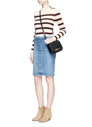 Figure View - Click To Enlarge - Frame Denim - 'Le Pencil' button denim skirt