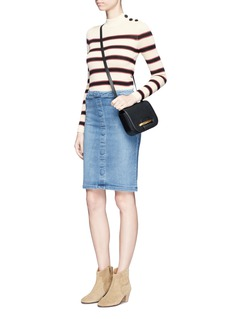 Frame Denim 'Le Pencil' button denim skirt