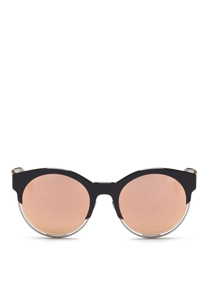 Dior Sideral 1 metallic rim acetate sunglasses by Dior