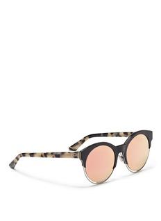 Dior'Dior Sideral 1' metallic rim acetate sunglasses