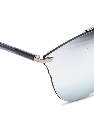 Detail View - Click To Enlarge - Dior - 'Dior Reflected' prism effect mounted mirror lens sunglasses
