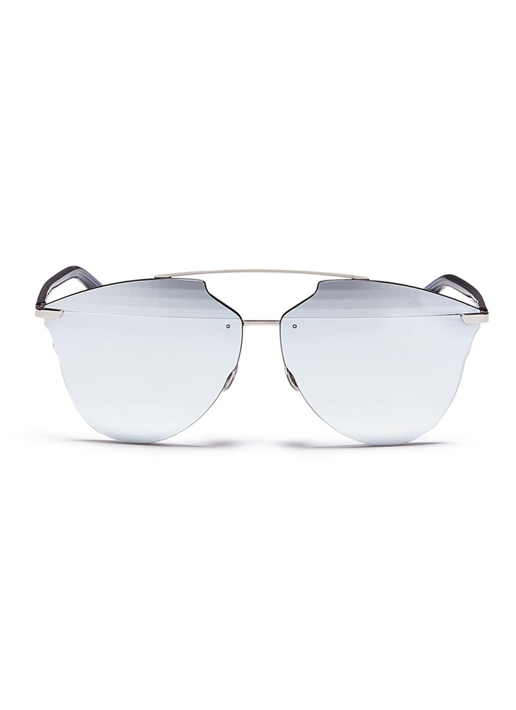 b585689435 201866588.  Dior Reflected  prism effect mounted mirror lens sunglasses
