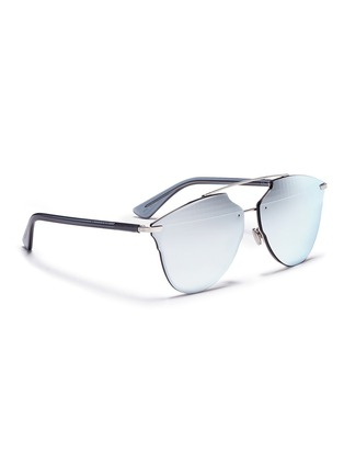 Figure View - Click To Enlarge - Dior - 'Dior Reflected' prism effect mounted mirror lens sunglasses